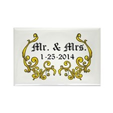 Mr. Mrs. Personalized dates Magnets