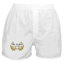 Mr. Mrs. Personalized dates Boxer Shorts