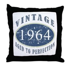 1964 Vintage (Blue) Throw Pillow