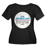 GAY REPUBLICANS? Women's Plus Size Scoop Neck Dark
