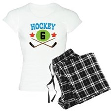 Hockey Player Number 6 Pajamas
