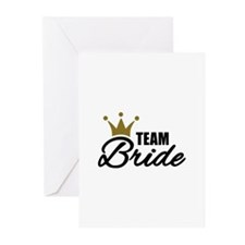 Team Bride crown Greeting Cards (Pk of 10)