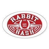 Rabbit Hash Oval Decal