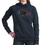 Bright Fish Print Hooded Sweatshirt