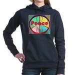 Abstract Peace Sign Hooded Sweatshirt
