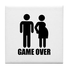 Game over Pregnancy Tile Coaster