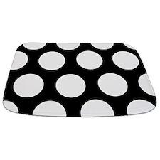 Black And White Large Polka Dot Bathmat