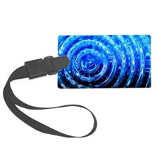 Blue Spiral Lights Luggage Tag