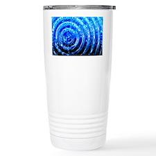 Blue Spiral Lights Travel Mug
