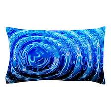 Blue Spiral Lights Pillow Case