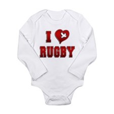 I Love Rugby Long Sleeve Infant Bodysuit