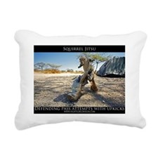 Squirrel Jiu Jitsu Rectangular Canvas Pillow