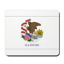 Illinois flag Mousepad