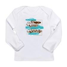 P76 brown and turquoise Long Sleeve T-Shirt