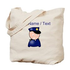 Cartoon Police Officer Tote Bag