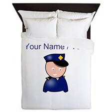 Cartoon Police Officer Queen Duvet