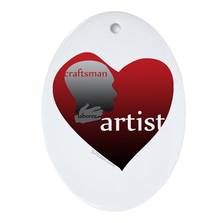 Art Takes Heart Oval Ornament