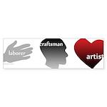 Art Takes Heart Bumper Sticker