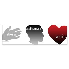 Art Takes Heart Bumper Sticker