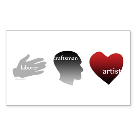 Art Takes Heart Rectangle Sticker