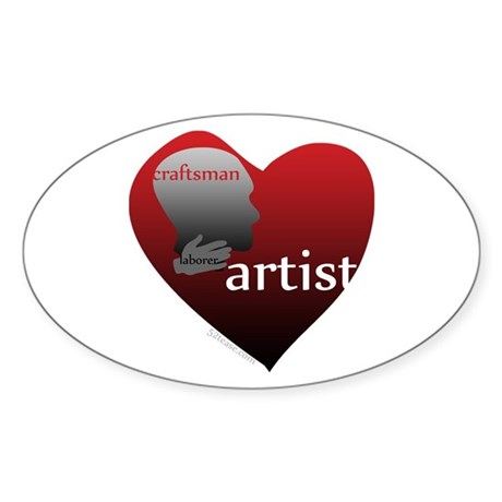 Art Takes Heart Oval Sticker