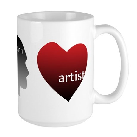 Art Takes Heart Large Mug