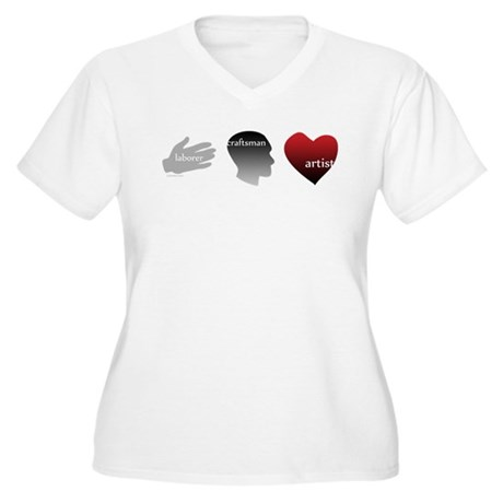 Art Takes Heart Women's Plus Size V-Neck T-Shirt
