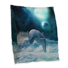 Freedom of dolphins Burlap Throw Pillow