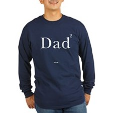 Dad squared - black Long Sleeve T-Shirt