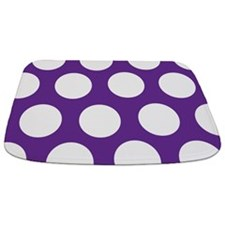 Purple Large Polka Dot Bathmat