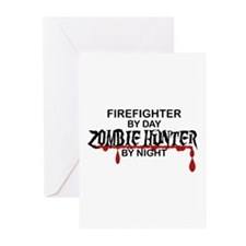 Zombie Hunter - Firefighter Greeting Cards (Pk of