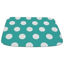Large Teal Polka Dot Bathmat