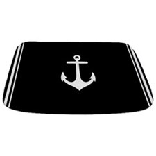 Nautical Black Anchor Bathmat