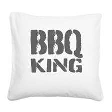 BBQ king Square Canvas Pillow