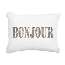 Bonjour Rectangular Canvas Pillow