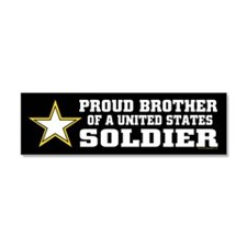 Cute Army brother Car Magnet 10 x 3