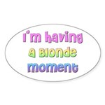 The Blonde's Oval Sticker