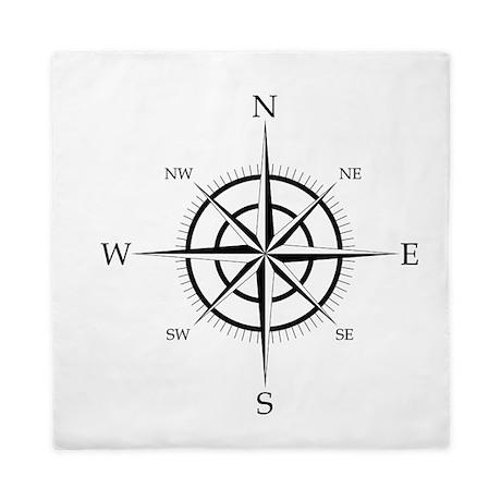 Compass Rose Queen Duvet
