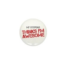 Stepdad Awesome Mini Button (100 pack)