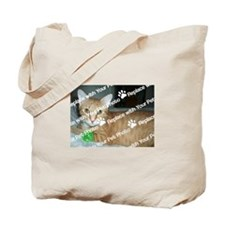CUSTOMIZE With Your Pet Photo Tote Bag