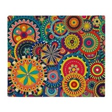 Funky Retro Pattern Throw Blanket