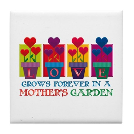 Mother's Garden Tile Coaster