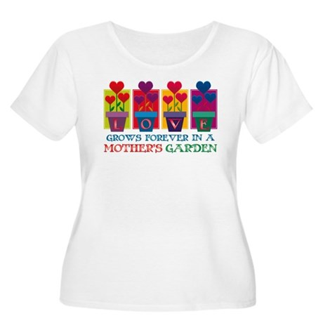 Mother's Garden Women's Plus Size Scoop Neck T-Shi