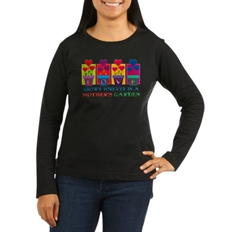 Mother's Garden Women's Long Sleeve Dark T-Shirt