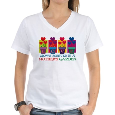 Mother's Garden Women's V-Neck T-Shirt