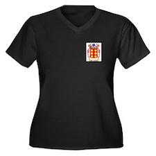 De Castris Women's Plus Size V-Neck Dark T-Shirt