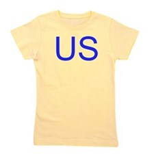 Yellow USA Girl's Tee