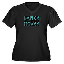 Funny Move! Women's Plus Size V-Neck Dark T-Shirt