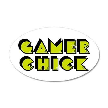 Gamer Chick Yellow Wall Decal