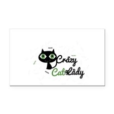 Crazy Cat Lady Rectangle Car Magnet